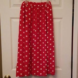 !!!Vintage!!! Bechamel Red Polka Dot skirt